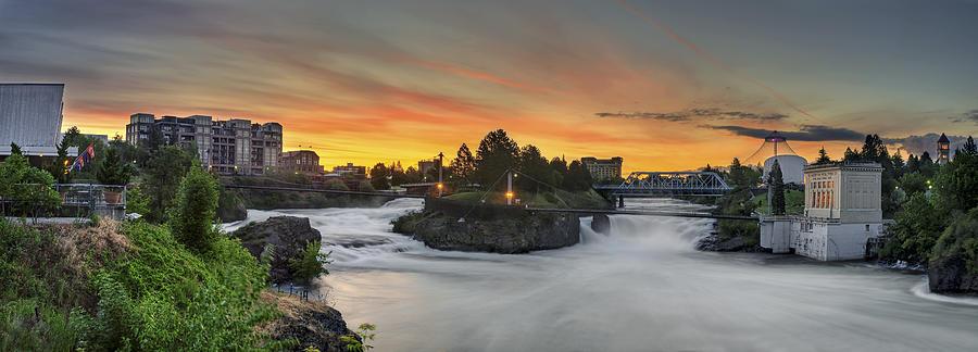Spokane Photograph - Spokane Sunrise by Michael Gass