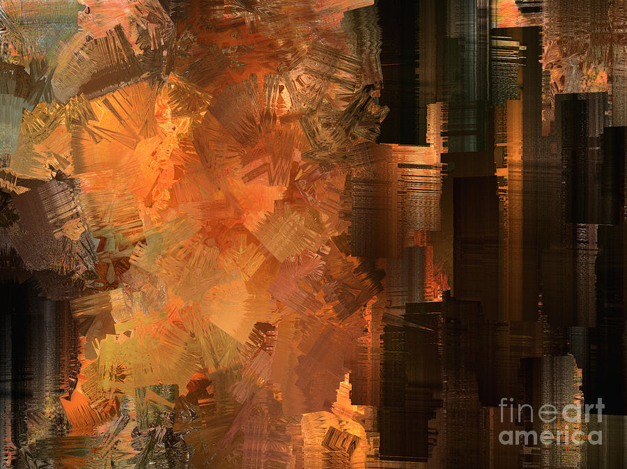 Abstract Painting - Spontaneous Combustion by Sydne Archambault