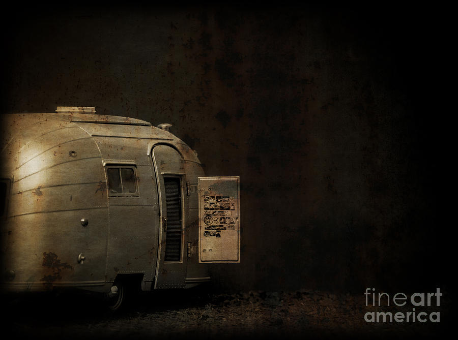 Creepy Photograph - Spooky Airstream Campsite by Edward Fielding