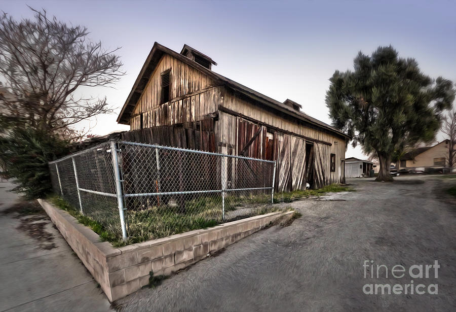 Spooky Photograph - Spooky Chino Barn by Gregory Dyer