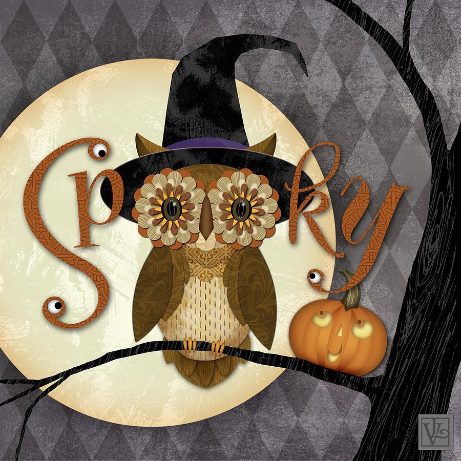 Halloween Digital Art - Spooky Owl by Valerie Drake Lesiak