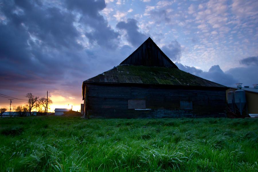 Barn Photograph - Spooky Shadow Barn by Eti Reid