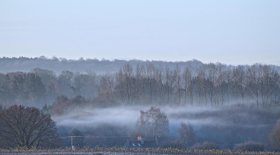 Landscape Photograph - Spooky Winters Morning by Karen Grist