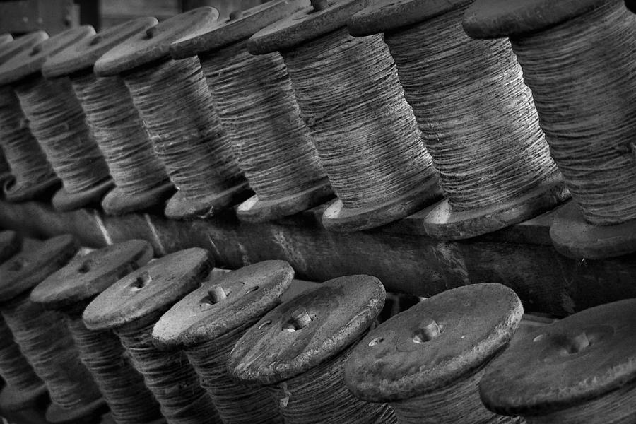 Rope Photograph - Spools In The Rope House by Nadalyn Larsen