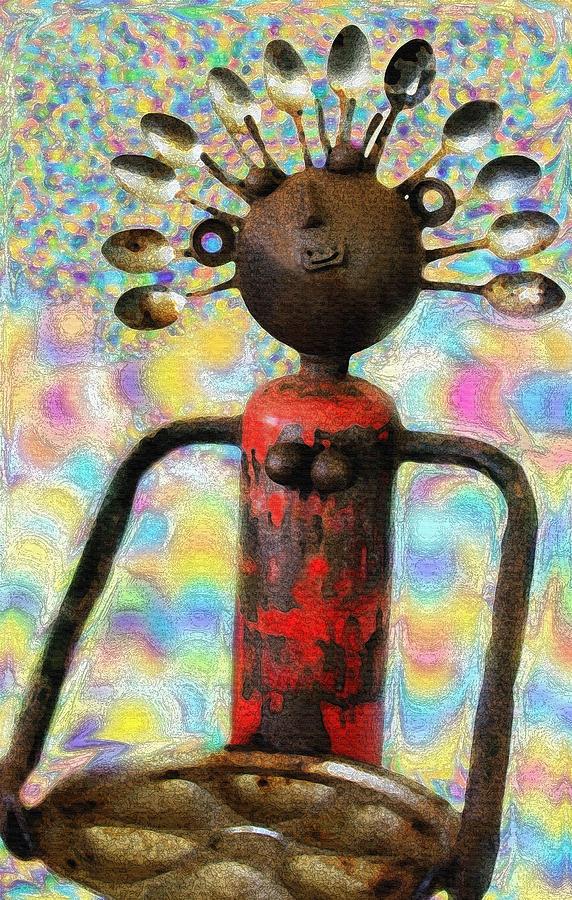 Woman Sculpture - Spoon Woman by Karon Melillo DeVega