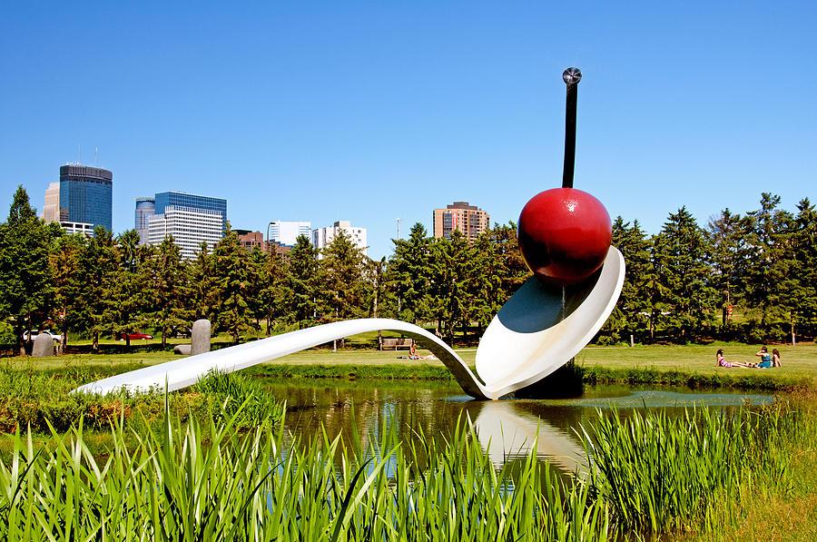 Minnesota Photograph - Spoonbridge and Cherry Sculpture by Lonnie Paulson