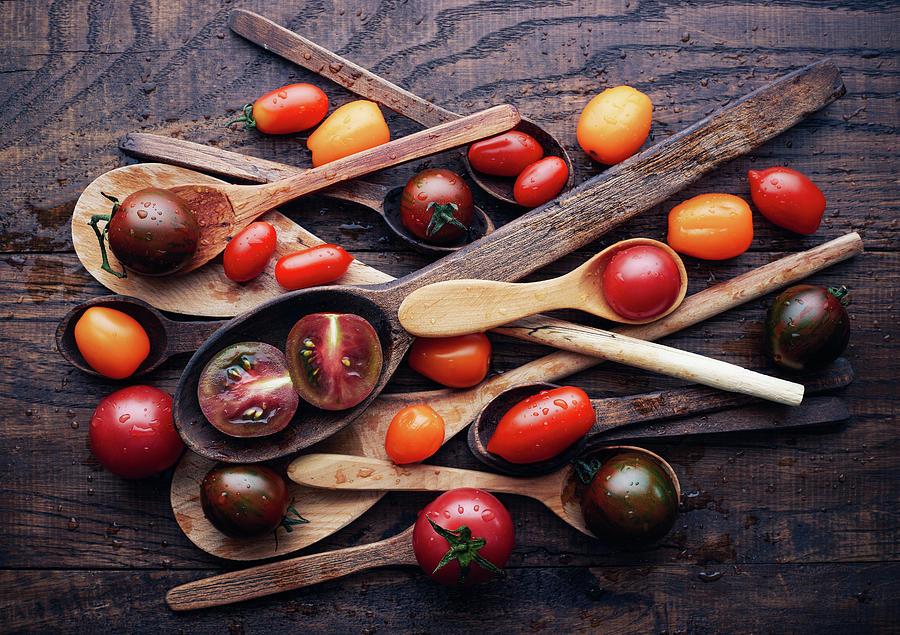 Food Photograph - Spoons&tomatoes by Aleksandrova Karina