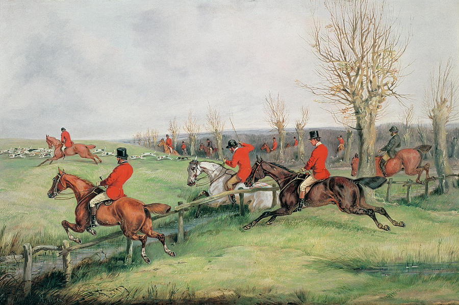 Horse Painting - Sporting Scene, 19th Century by Henry Thomas Alken