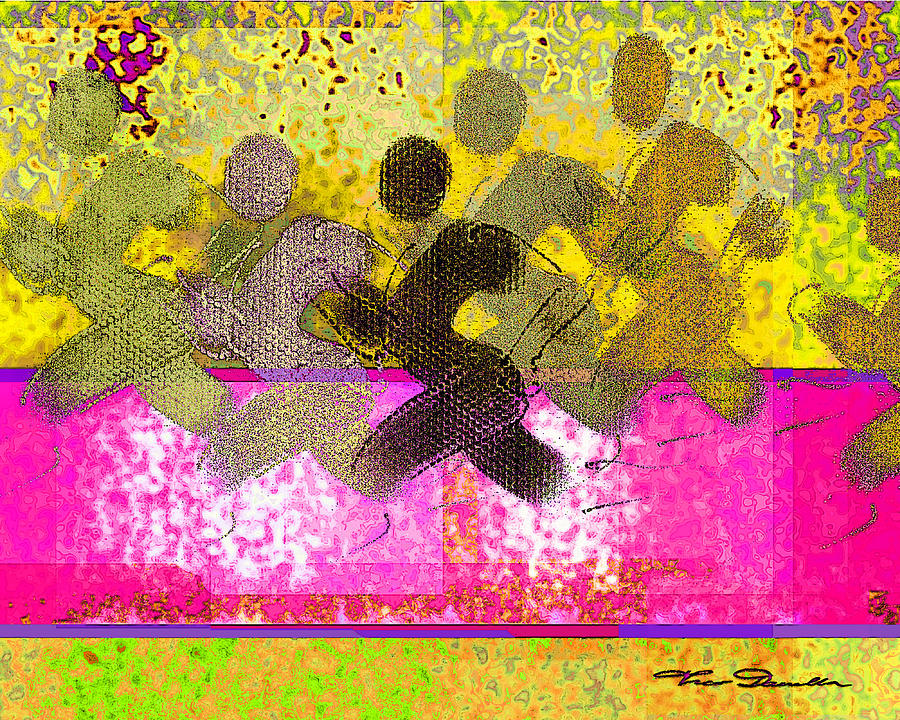 Yellow Drawing - Sports B 2 by Theo Danella