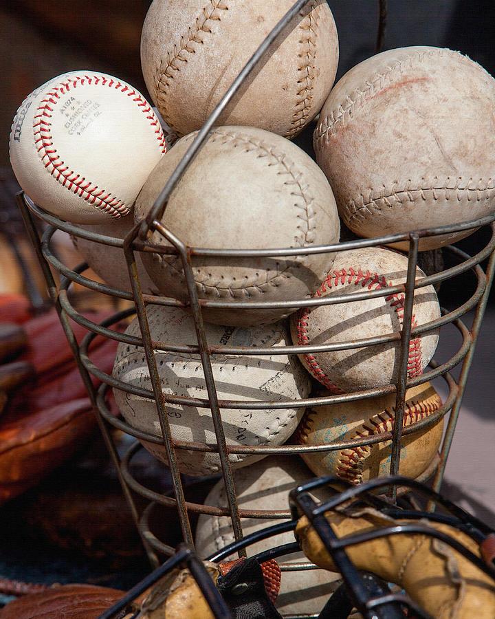 Balls Photograph - Sports - Baseballs And Softballs by Art Block Collections