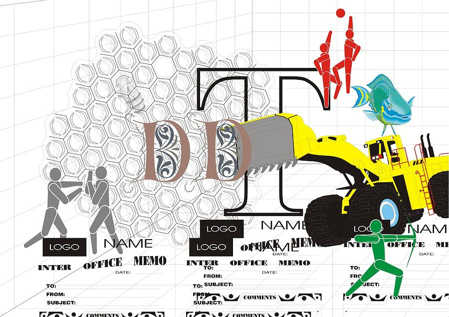 Postmodern Digital Art - Sports Fishing Logo by Teo Spiller