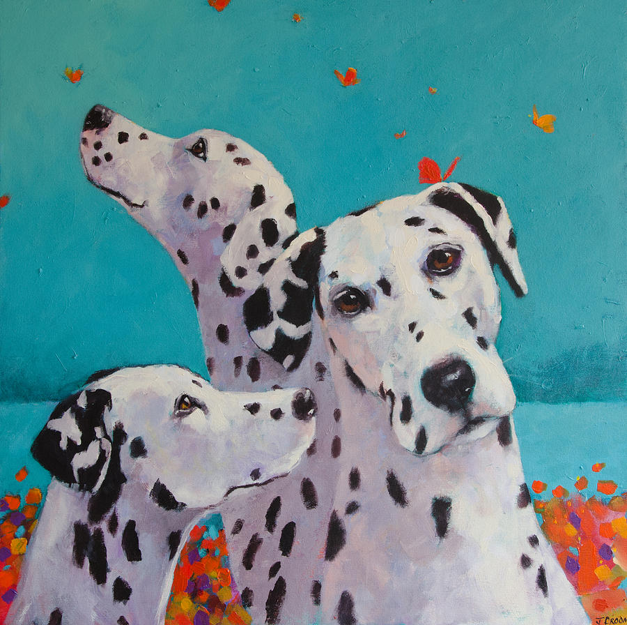 Dalmation Painting - Spot Of Mischief by Jennifer Croom