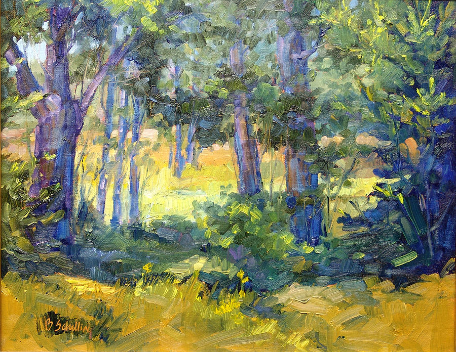 Landscape Painting - Spot Of Shade by Barbara Schilling