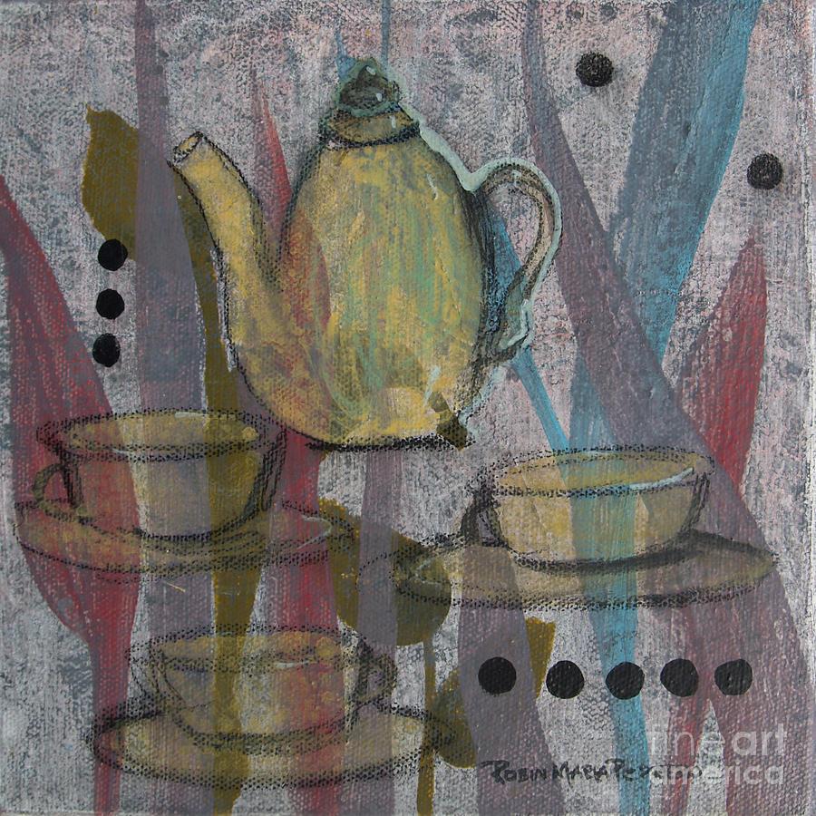 Rea Painting - Spot Of Tea by Robin Maria Pedrero