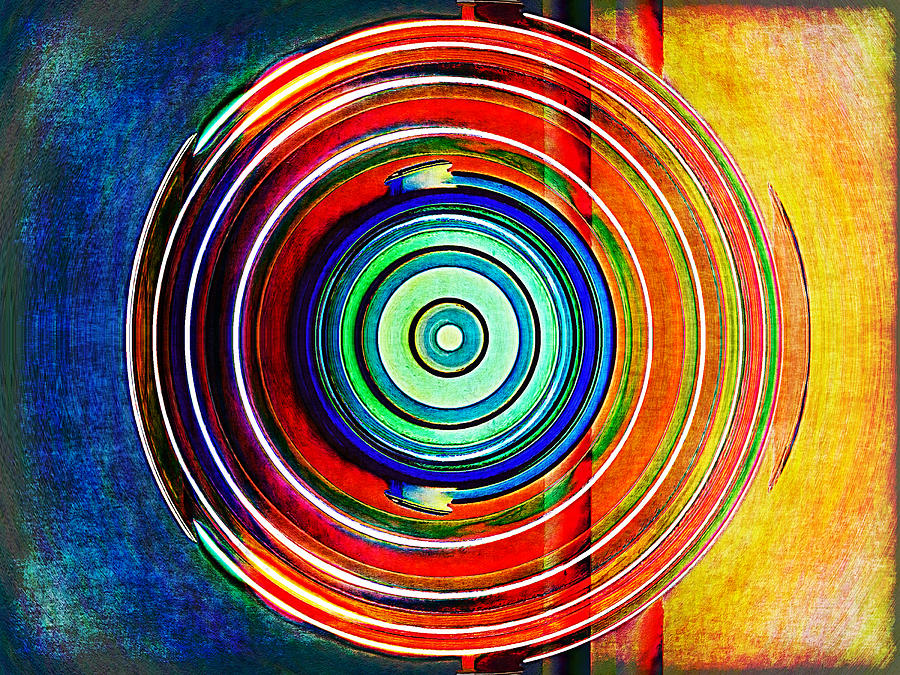 Abstract Digital Art - Spot On by Wendy J St Christopher
