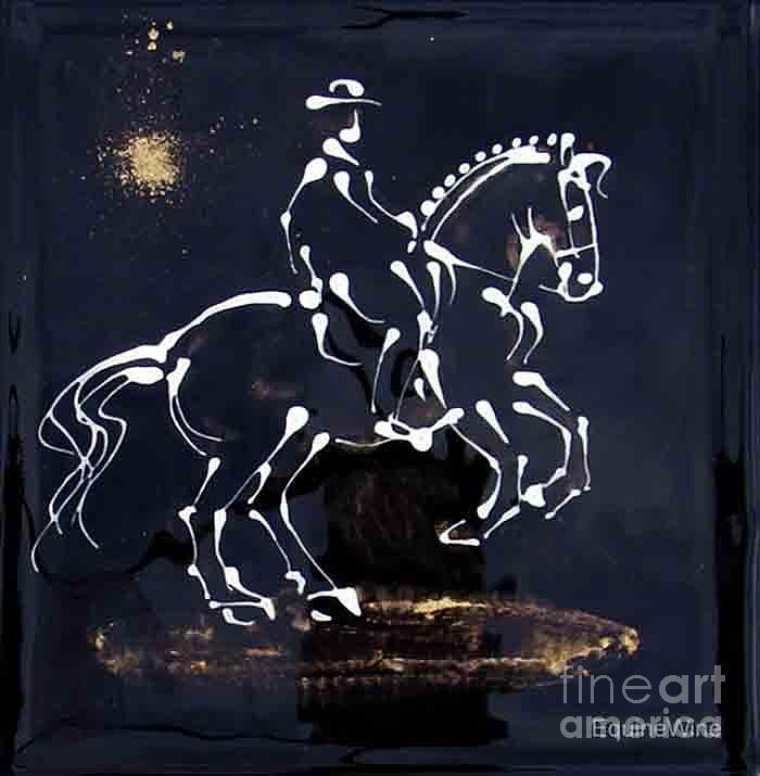 Norse Painting - Spotlight Lusitano by Diane Schell