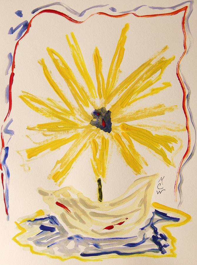 Flower Painting - Spotlight On Yellow by Mary Carol Williams