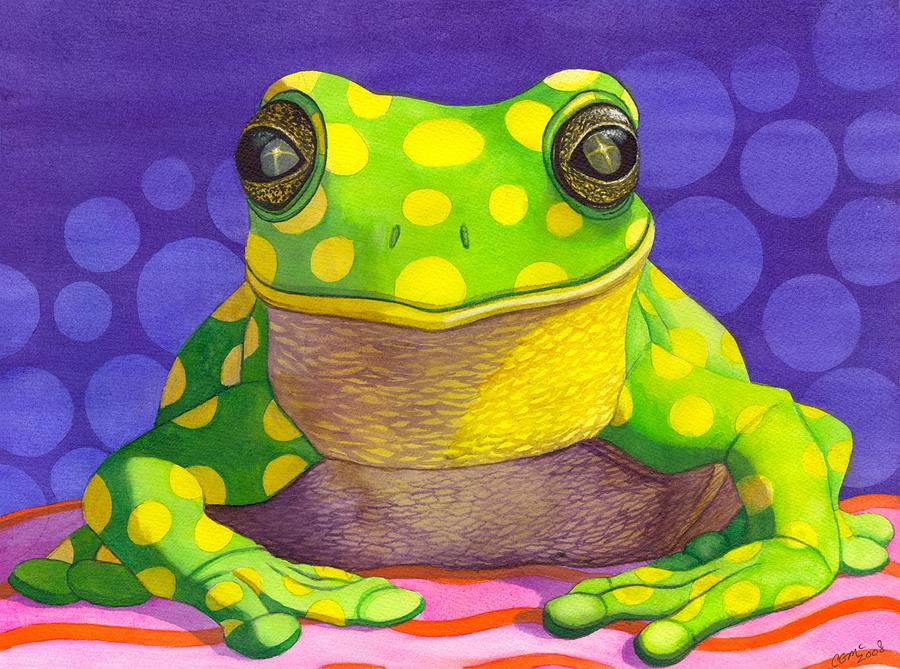 Frog Painting - Spotted Frog by Catherine G McElroy