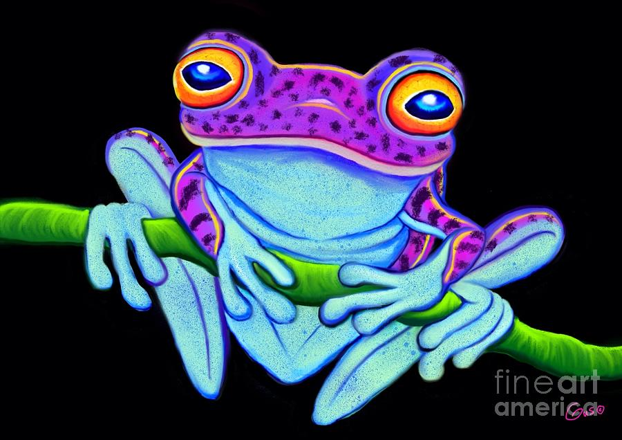 Spotted Purple Frog Painting By Nick Gustafson