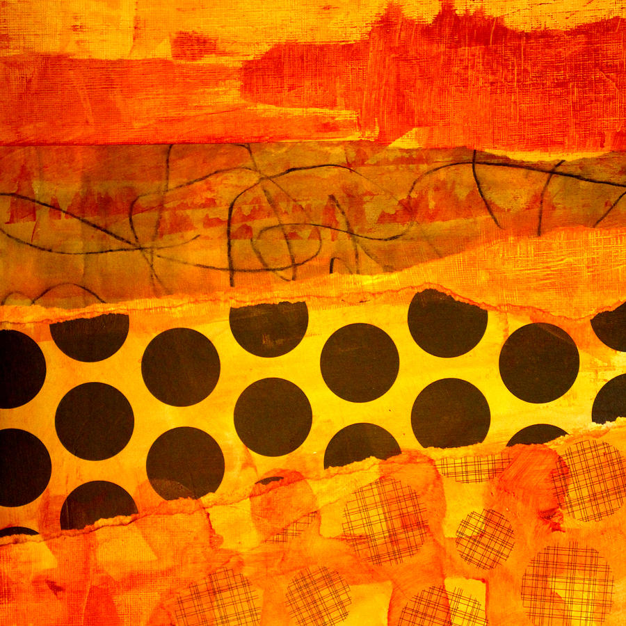Orange Painting - Spotted Sunset by Nancy Merkle