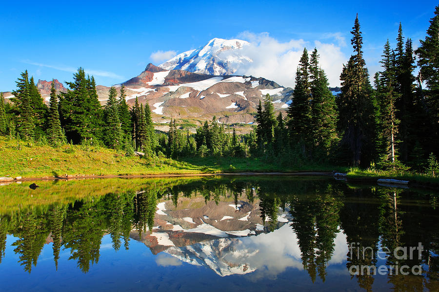America Photograph - Spray Park Tarn by Inge Johnsson