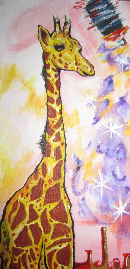 Giraffe Painting - Spraymagic by Erik Franco