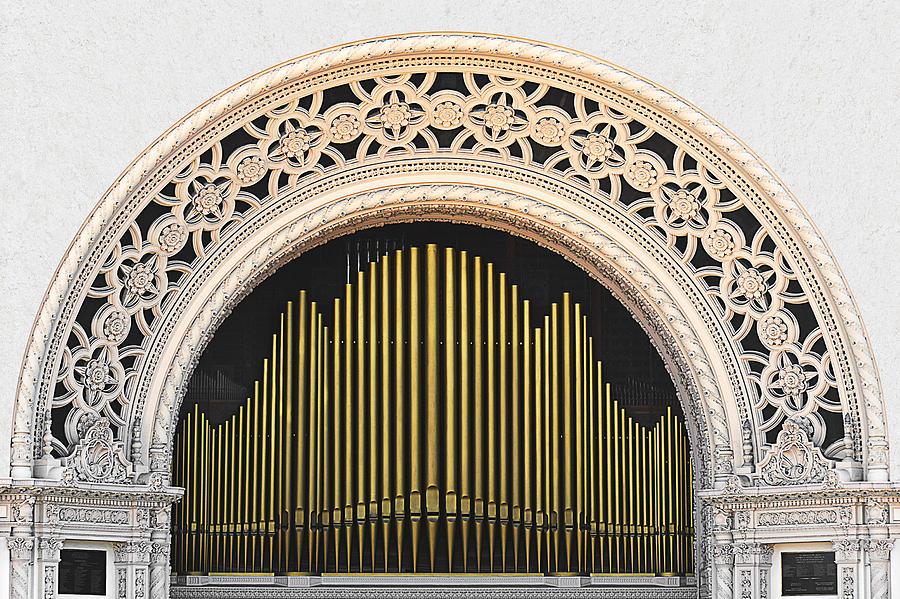 San Diego Photograph - Spreckels Organ Balboa Park San Diego by Christine Till