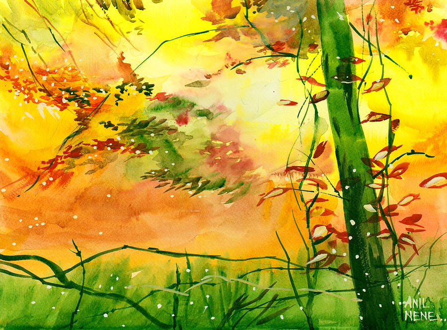 Nature Painting - Spring 1 by Anil Nene