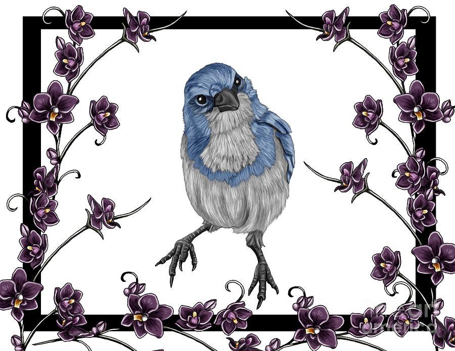 Bird Painting - Spring 2 by Karen Sheltrown