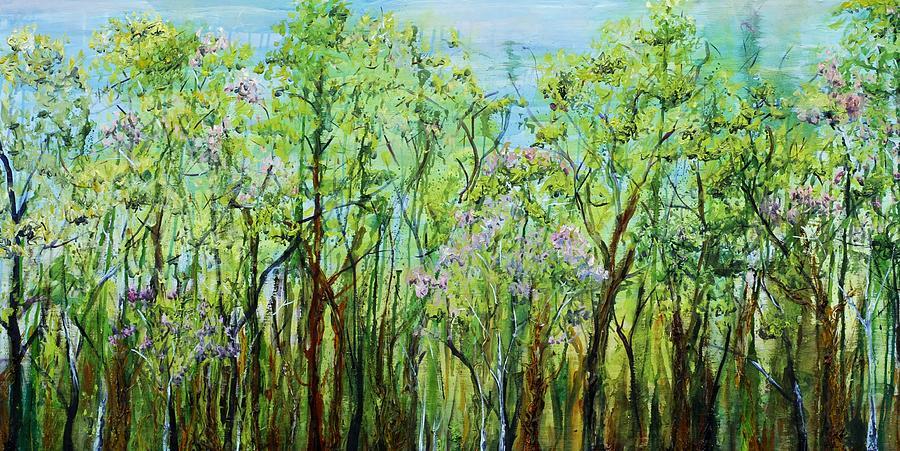 Landscape Painting - Spring Arpeggio by Regina Valluzzi