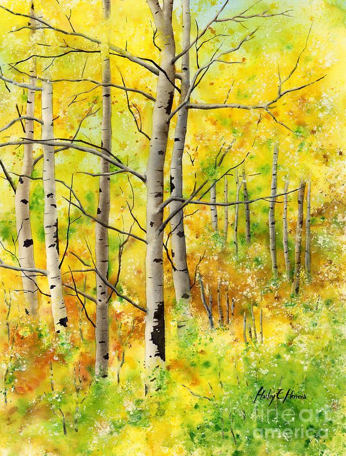 Spring Aspens Painting