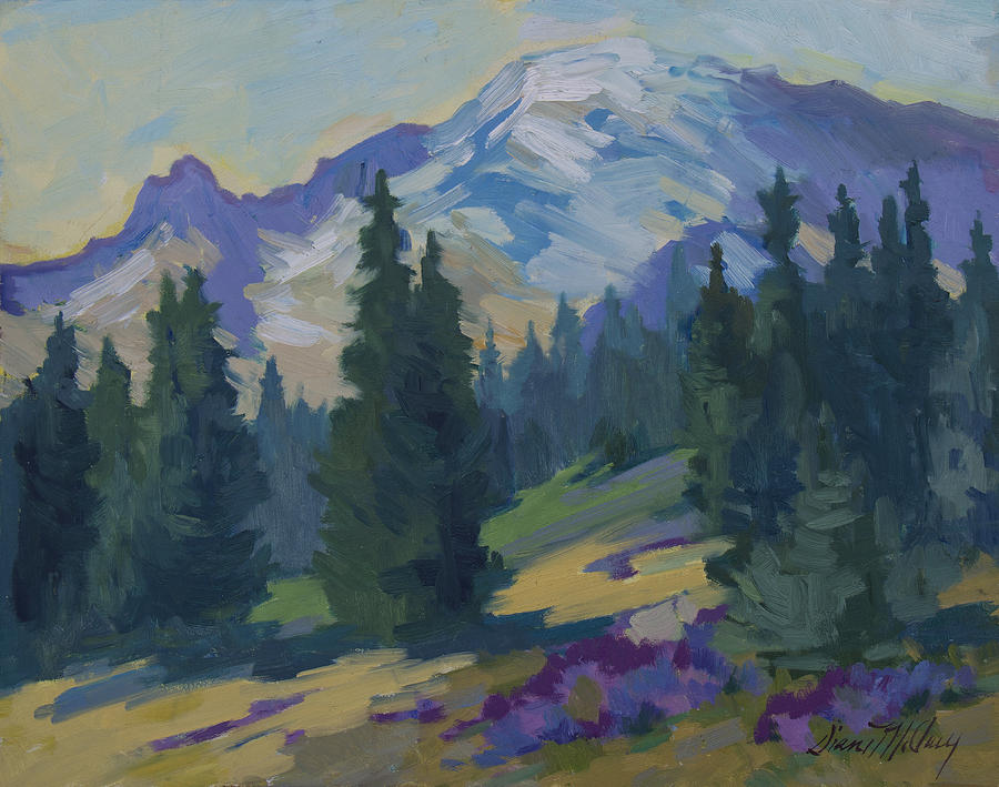 Mount Rainier Painting - Spring At Mount Rainier by Diane McClary