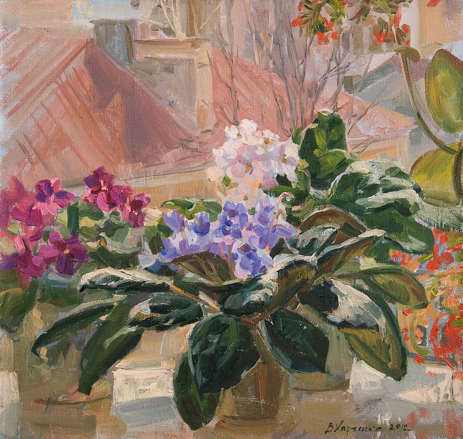 Still-life Painting - Spring At My Window by Victoria Kharchenko