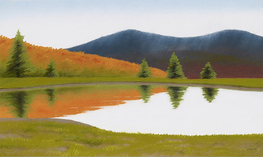 Spring Pastel - Spring At Three Sisters Pond by Bruce Richardson