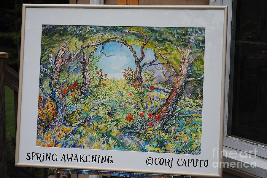 Forest Painting - Spring Awakening by Cori Caputo