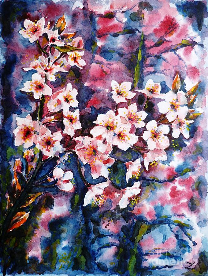 Sakura Painting - Spring Beauty by Zaira Dzhaubaeva