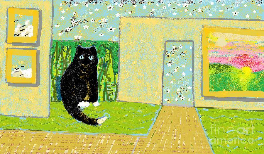 Cat Digital Art - Spring by Beebe  Barksdale-Bruner