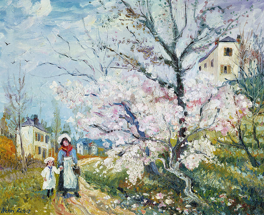 Garden Painting - Spring Blossom by Henri Richet