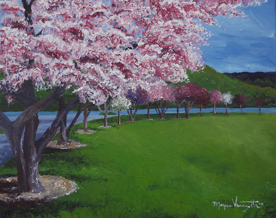 Painting Painting - Spring Blossoms by Monica Veraguth