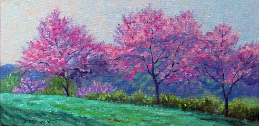 Bonnie Mason Painting - Spring Blossoms On Mill Mountain by Bonnie Mason