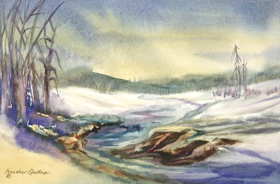 Canadian Landscape Painting - Spring Break by Heather Gallup