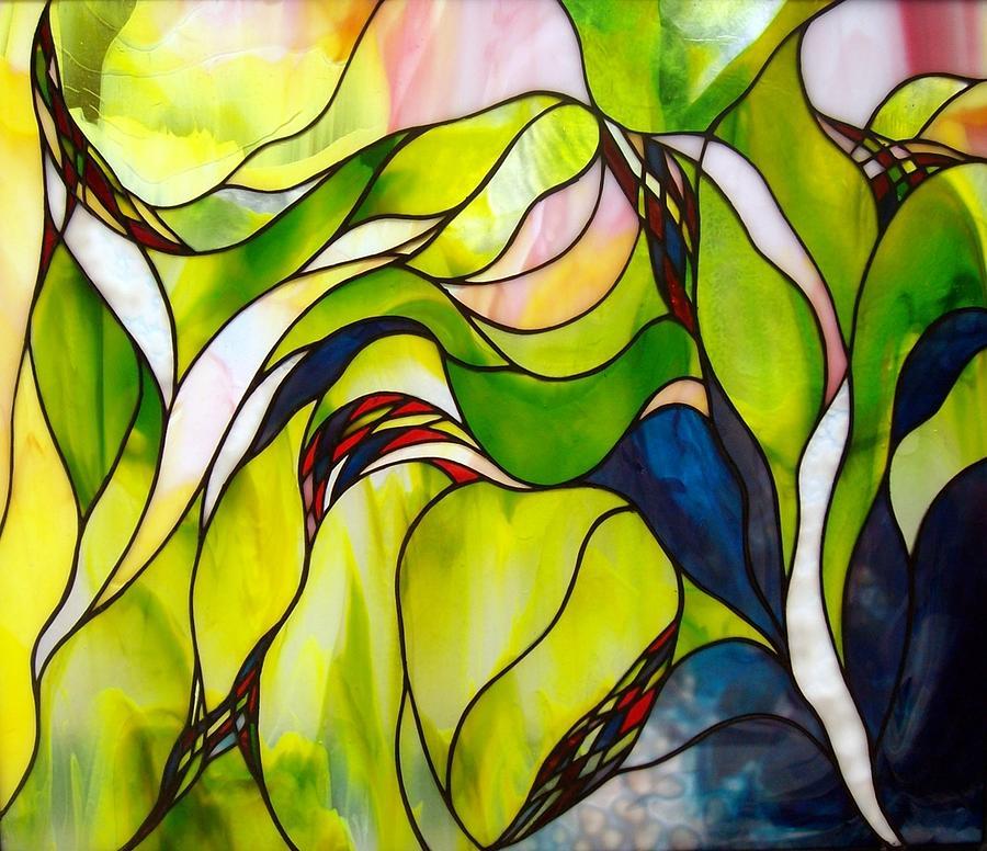 Glass Glass Art - Spring by Christine Alexander