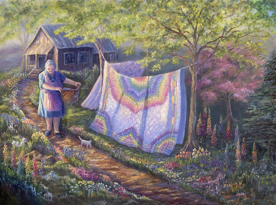 Landscape Painting - Spring Cleaning by June Hunt