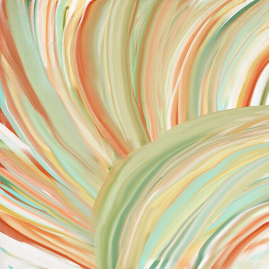 Peach Painting - Spring Colors by Lourry Legarde