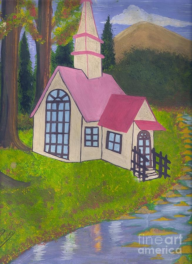 Spring Cottage Painting by Syeda Ishrat