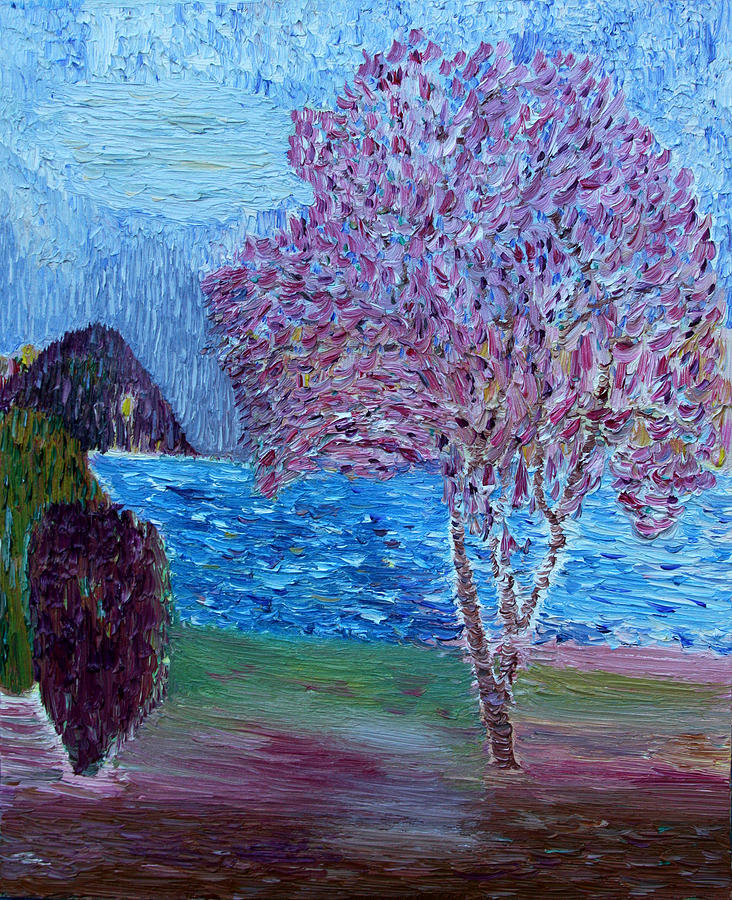 Spring Painting - Spring Crabapple Tree by Vadim Levin