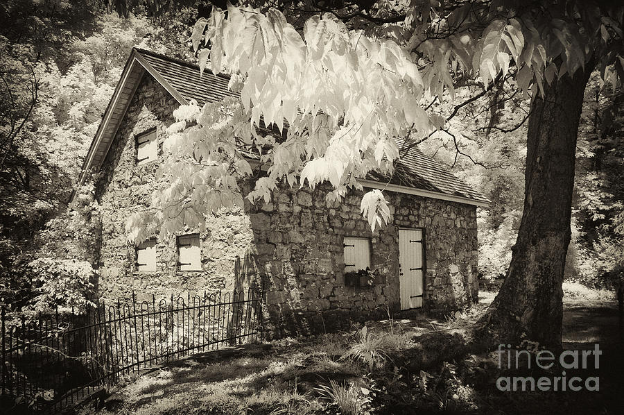 Infrared Photograph - Spring Creek Mill by Paul W Faust -  Impressions of Light