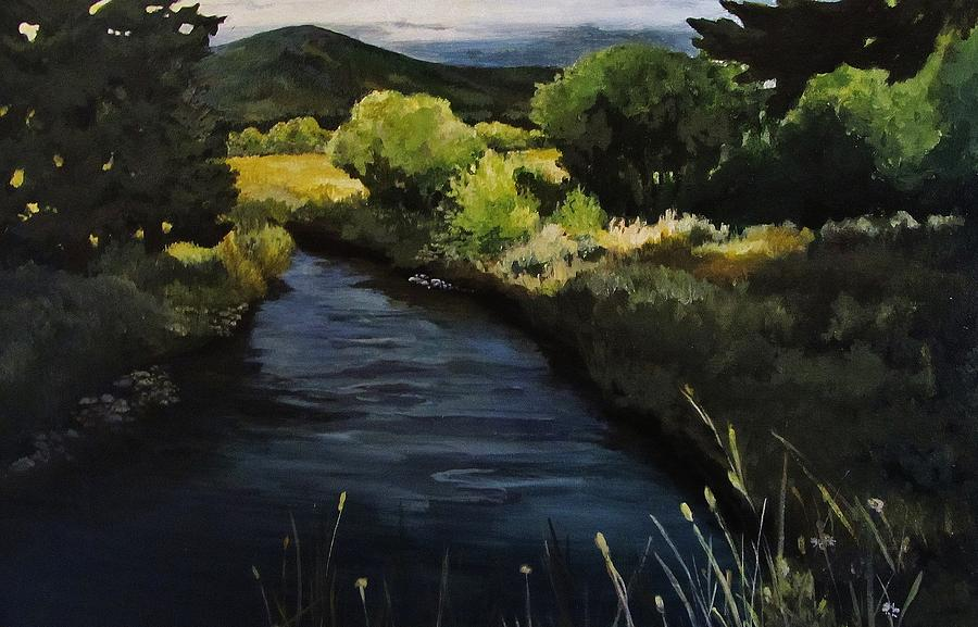 Landscape Painting - Spring Creek by Suzanne Tynes