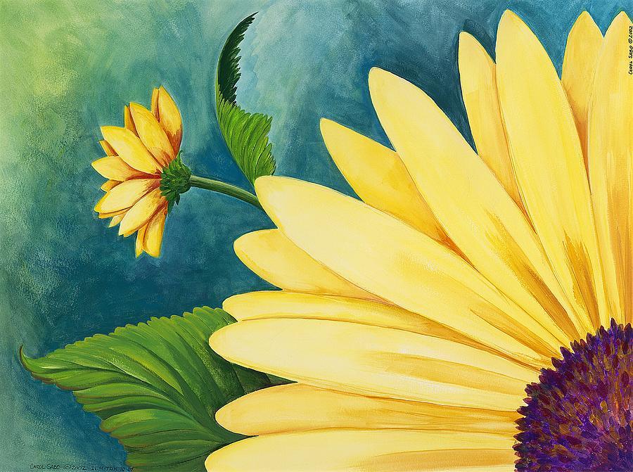 Daisy Painting - Spring Daisy by Carol Sabo
