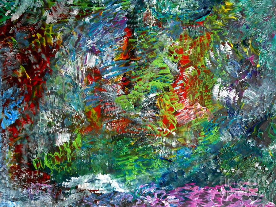 Landscape Painting - Spring by Danya Hammoudi